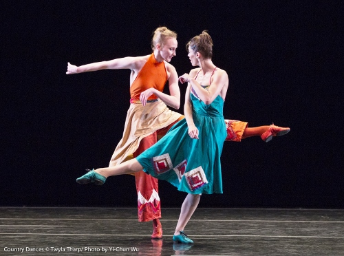Dancers Eva Trapp (front) and Kaitlyn Gilliland in Twyla Tharp's 'Country Dances'