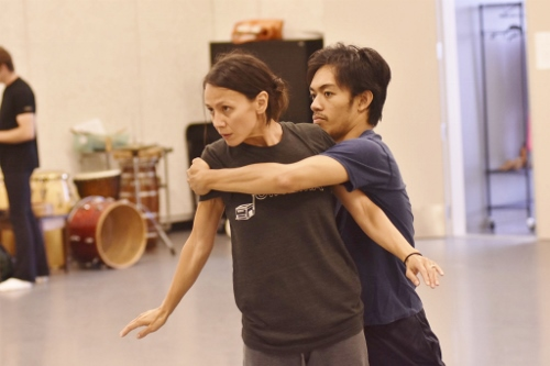 Choreographer Robyn Mineko Williams rehearses her new work 'Part Way' with GroundWorks DanceTheater's Michael Marquez.