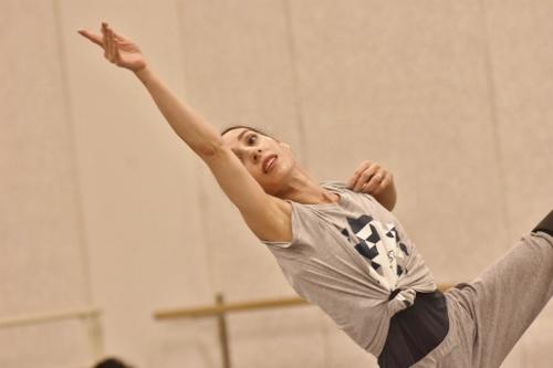 GroundWorks DanceTheater's Felise Bagley rehearses choreographer Robyn Mineko Williams' new work 'Part Way.'