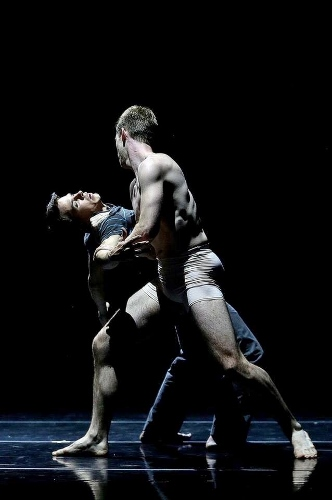 "Dance Kaleidoscope's Noah Trulock and Stuart Coleman in Brock Clawson's ""Lake Effect Snow."""