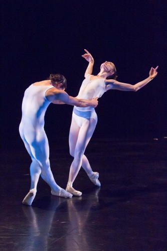 "Carolina Ballet's Marcelo Martinez and Lara O'Brien in Robert Weiss' ""Meditation from Täis.'"