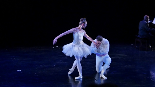Miami City Ballet's Lauren Fadeley and Francis Veyette in the 'Diamonds' pas de deux from George Balanchine's Jewels.