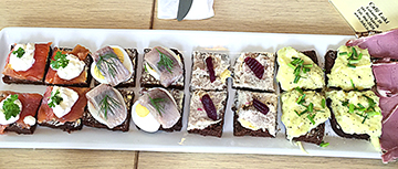 """Just one of the café's tasty """"Icelandic Plate"""" samplers."""