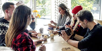A Reykjavik foodie tour concludes with Café Loki's unique Rye Bread Ice Cream.