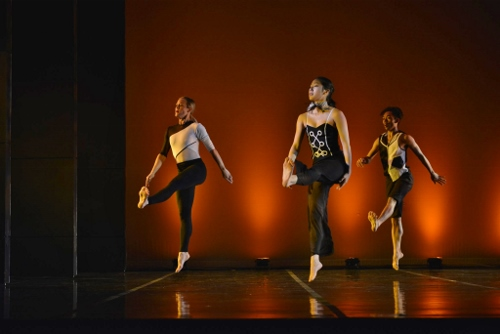 (L-R) GroundWorks' Lauren Garson, Stephanie Terasaki and Michael Marquez in David Shimotakahara's 'Chromatic.'