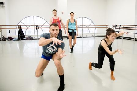 (L-R) BalletX's Richard Villaverde, Zachary Kapeluck, Caili Quan and Andrea Yorita.