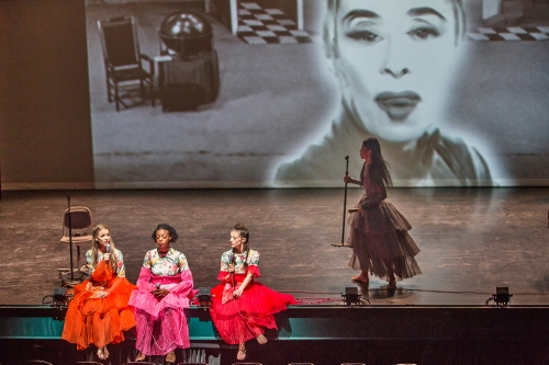 """(L to R) Anne O'Donnell, Leslie Andrea Williams, Laurel Dalley Smith, and Xin Ying in Annie-B Parson's """"I used to love you."""""""
