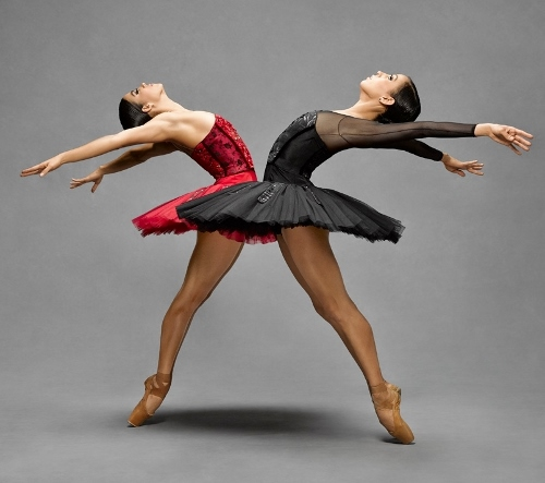 Cincinnati Ballet's Ana Gallardo and Maizyalet Velázquez.