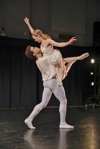 Photo: Harkness Dance Festival: New York Theatre Ballet<br>Antony Tudor's pas de deux from Romeo & Juliet (1943).