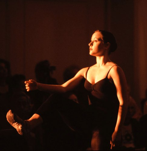 Chloe Felesina in an excerpt of Jiri Kylian's Whereabouts Unknown in the San Francisco Conservatory of Dance's Summer Student Showcase 2005