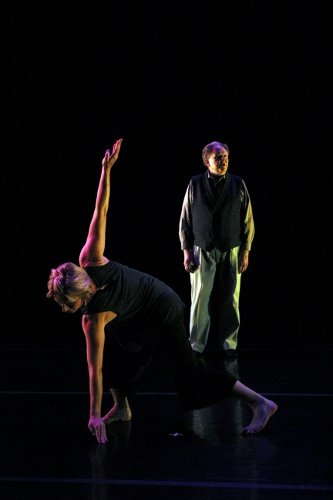 (L to R) Travesty Dance Group's Stephanie Harris and Chuck Richie in Kimberly Karpanty's 'the tongue of the wise.""