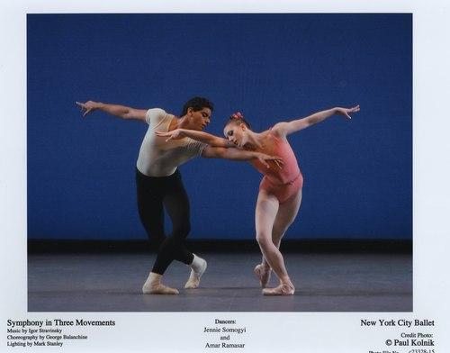Jennie Somogyi and Amar Ramasar in NYCB's Symphony in Three Movements