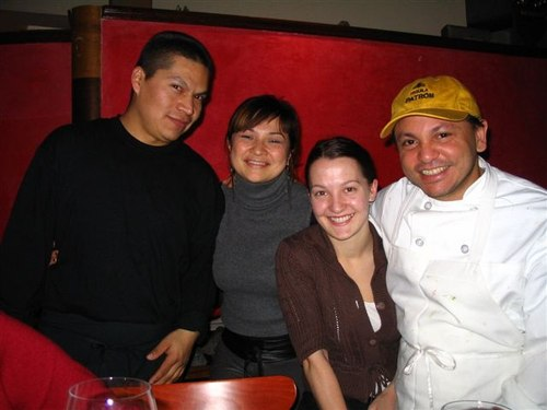 Pepe, Pancha, Joanna, Chef Thierry At Papatzul