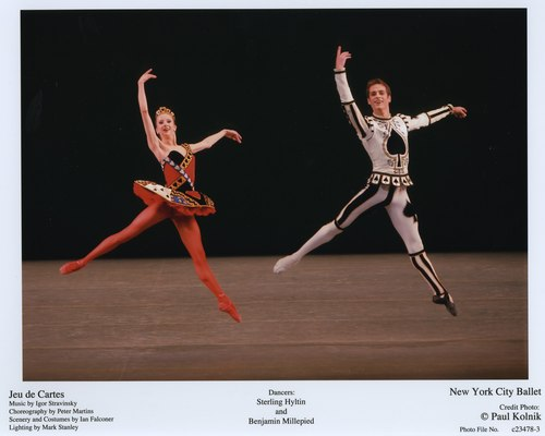 Sterling Hyltin and Benjamin Millepied in NYCB's Jeu de Cartes