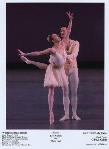 Kyra Nichols and Philip Neal in NYCB's Walpurgisnacht Ballet