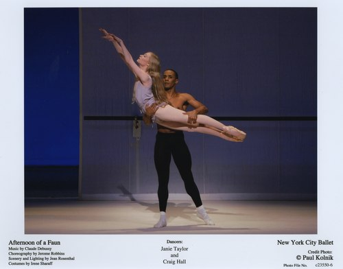 Jamie Taylor and Craig Hall in NYCB's Afternoon of a Faun