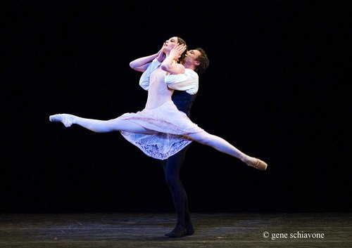Aurelie Dupont and Manuel Legris (Paris Opera Ballet) performing at YAGP 2007 Gala at NY City Center. Photo by Gene Schiavone.