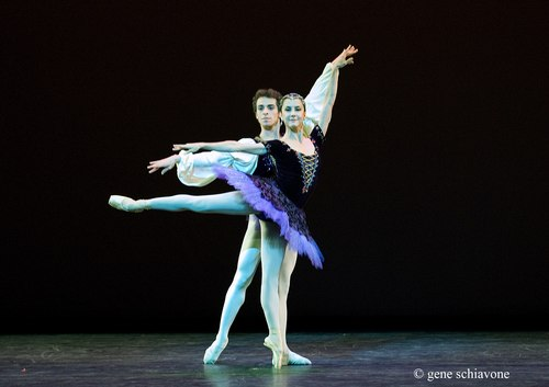 Cecilia Kerche and Vitor Luiz (Ballet Teatro Municipal do Rio de Janeiro, NY DEBUT) performing at YAGP 2007 Gala at NY City Center. Photo by Gene Schiavone.