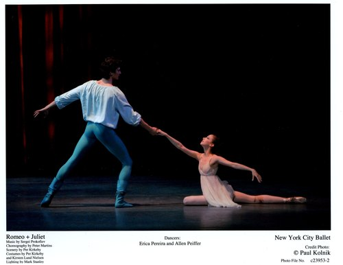 Erica Pereira and Allen Peiffer in NYCB's Romeo + Juliet
