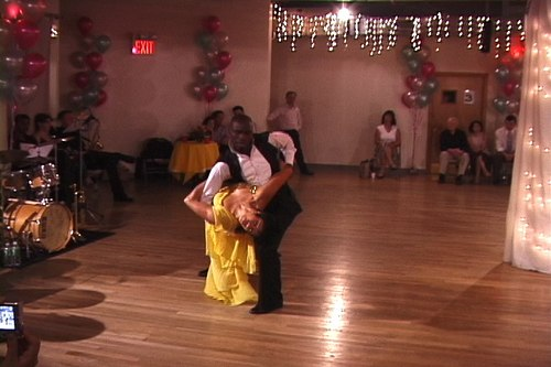 Lemington Ridley and Talia Castro-Pozo perform a Waltz