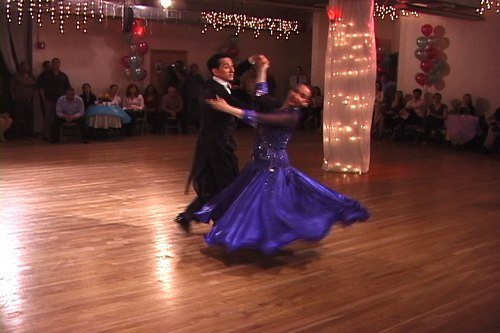 Jamie Cunneen and Linda Gammon perform a Viennese Waltz
