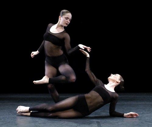 Lorena Egan (standing) and Penelope Gonazlez in BLACK DIAMOND, The Pascal Rioult Dance Theatre