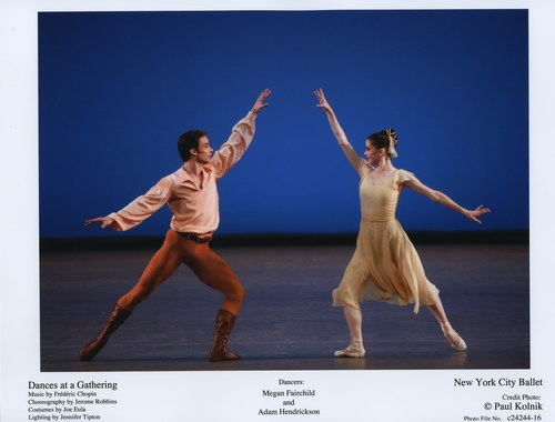 Megan Fairchild and Adam Hendrickson in 'Dances at a Gathering.' June 2, 2007 at the New York City Ballet.