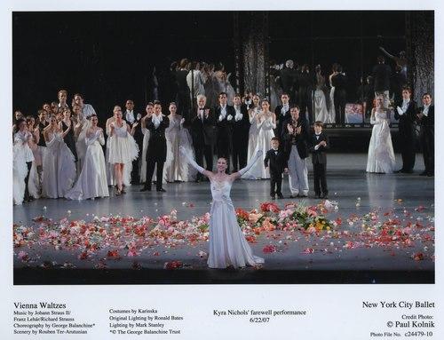 'Vienna Waltzes' marks Kyra Nichols farewell performance for the New York City Ballet. June 22, 2007.