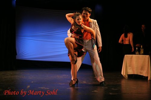'Roxana's Tango,' presented by Tango y Mas. Pictured is director/choreographer Angel Garcia-Clemente and Mariana Parma.