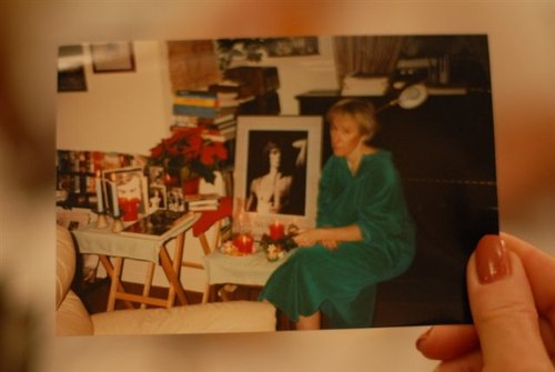 Roberta's 1993 photo of her Nureyev shrine