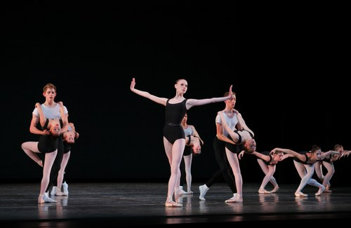 Advanced students perform Balanchine's 'The Four Temperaments' at the School of American Ballet's annual Workshop Performances, June 2007. Choreography by George Balanchine © The George Balanchine Trust