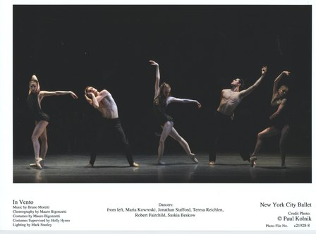 Maria Kowroski, Jonathan Stafford, Teresa Reichlen, Robert Fairchild and Saskia Beskow in New York City Ballet's In Vento