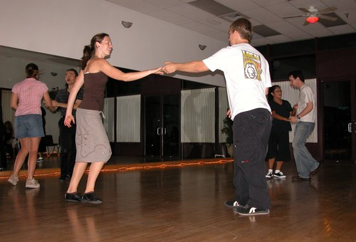 Dancing at Aloha Swing