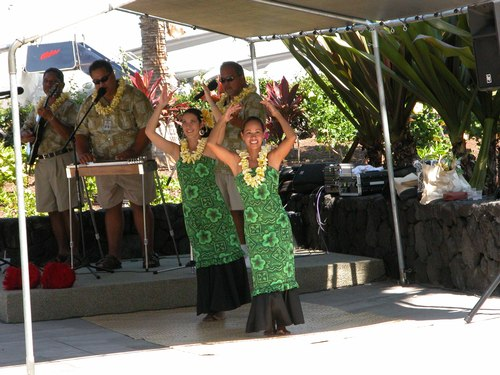Hula Dancing Times Two at Keahole-Kona International Airport