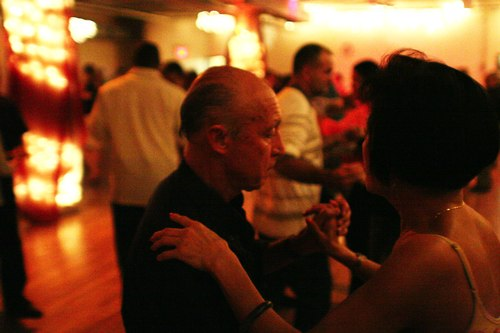 Dancing at Stepping Out Studio's Sundown Party Camera: ISO 3200, 1/125, 1.4, Curves adjusted in Photoshop
