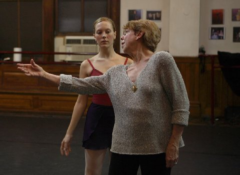 Sallie and Elena Zahlmann in rehearsal