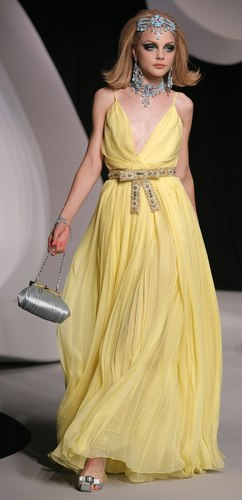 Yellow Dress by Dior from the Ready-To-Wear Cruise 2008 Collection
