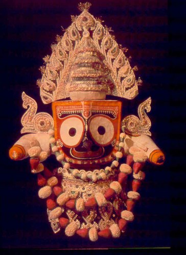 Jagannath - 'Lord of the world' - Lord Krishna in the form of the image in the Puri temple, located in the state of Orissa, from which Odissi dance originates.