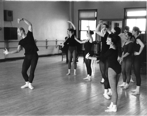 José Limón teaching at Juilliard, February 24, 1959.