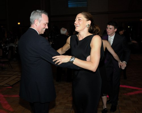 Jonathan Goldman, Spotlight Ball Committee member, with HSDC dancer Meredith Dincolo