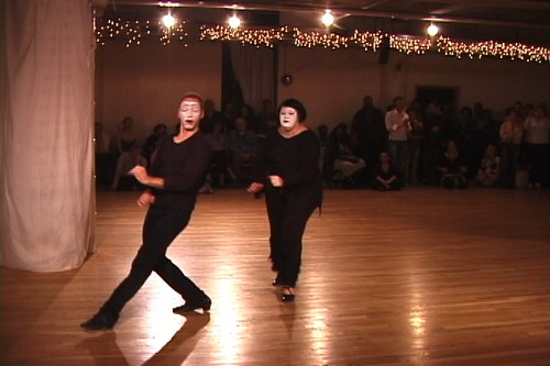 Stepping Out Studios April 25, 2008 Student Showcase Gabrielle Gosselin & Jules Helm (instructor) - Samba/Mime