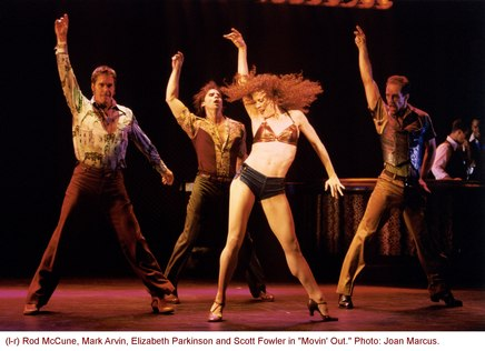 Elizabeth Parkinson in Movin' Out's Mulberry Street number
