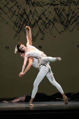 Suzanne Farrell Ballet Dancers: Elisabeth Holowchuk and Matthew Prescott in'Prithoprakta'