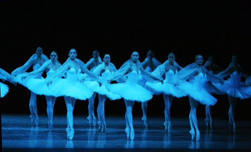 The Kirov Ballet in Kingdom of the Shades scene from 'La Bayadere'