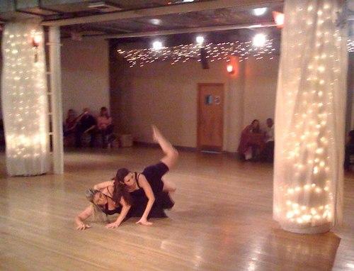 A modern dance performance