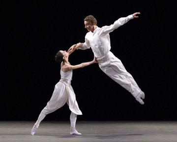 Maria Riccetto and Blaine Hoven in Twyla Tharp's 'Baker's Dozen.'