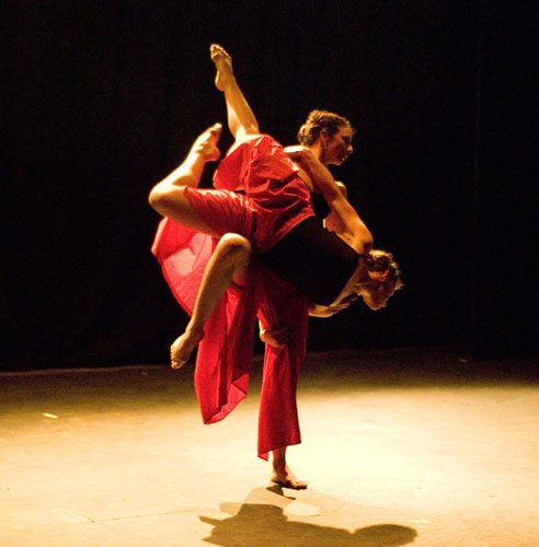 Gehring Dancetheatre dancers Heather Gehring (bottom) and Jamie Harrison perform Excerpts from 'Ruth'