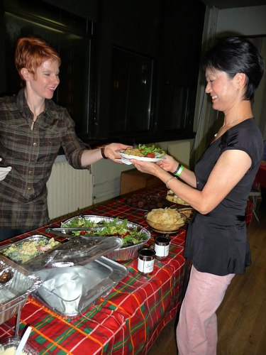 Simone Assboeck (on left)