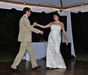 Sasha and Rachel Leland perform their first dance