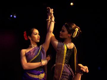 Noun Kaza (left) and Chao Socheata. Photo courtesy of Khmer Arts Ensemble